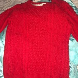 An Orange Knit Sweater from H&M